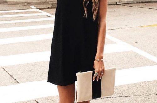 μαύρο φόρεμα το καλοκαίρι